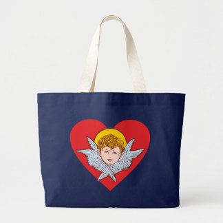 Cherub heart heart tote bag