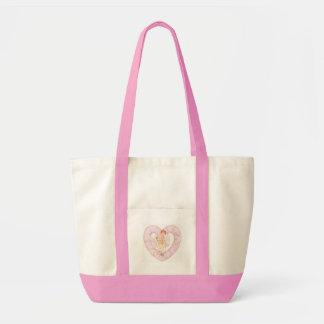 cherub heart pink impulse tote bag