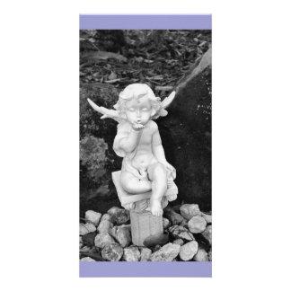 cherub kisses personalized photo card