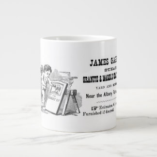 Cherub & Tombstones Large Coffee Mug