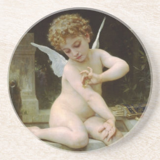 Cherub with A Butterfly Coaster