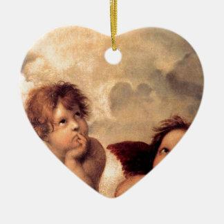 Cherubim - Raphael Ceramic Heart Decoration