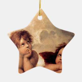 Cherubim - Raphael Ceramic Star Decoration