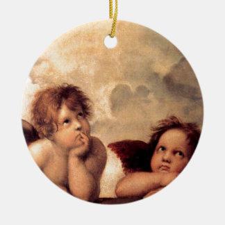Cherubim - Raphael Round Ceramic Decoration