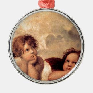 Cherubim - Raphael Silver-Colored Round Decoration