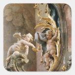 Cherubs, 1737-66 square sticker