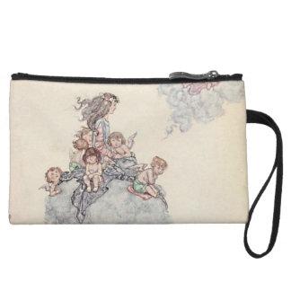 Cherubs and Angel Fairies Andersen's Fairy Tales Wristlet Clutch