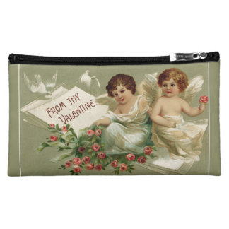 Cherubs and Roses Cosmetic Bags