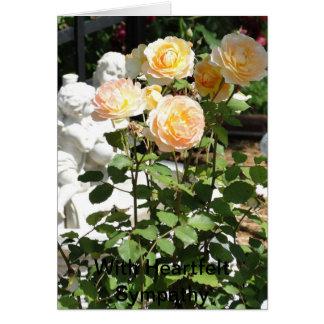 Cherubs And Roses, Sympathy Card