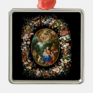 Cherubs Give Offerings to Christ Child Ornaments