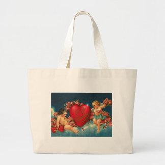 CHERUBS & HEARTS by SHARON SHARPE Jumbo Tote Bag