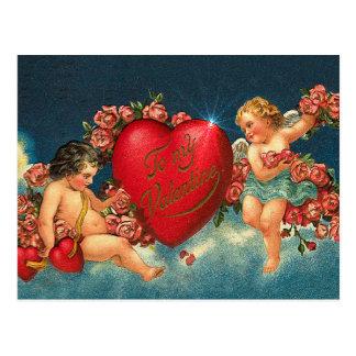CHERUBS & HEARTS by SHARON SHARPE Postcard