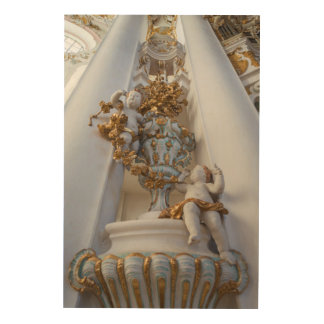 Cherubs In The Wieskirche Church Wood Print