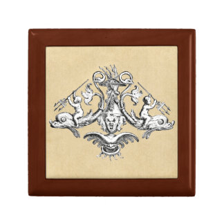 Cherubs Riding Dolphins Small Square Gift Box