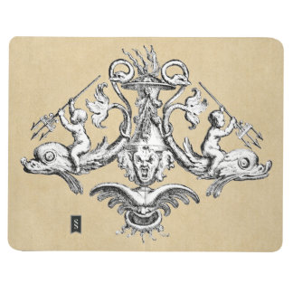 Cherubs Riding Dolphins with Tridents Journal