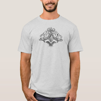 Cherubs with Tridents on Dolphins T-Shirt