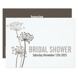 Chervil modern brown bridal shower invitation