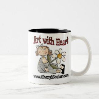 cheryl seslar designs Two-Tone coffee mug