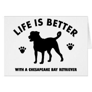 chesapeak Bay retrier dog design Card