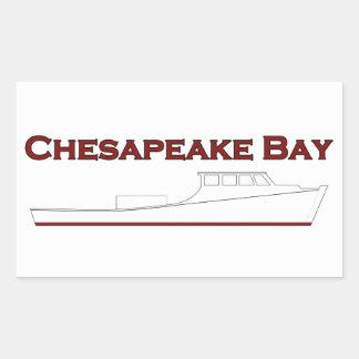 Chesapeake Bay Deadrise Workboat Rectangular Sticker