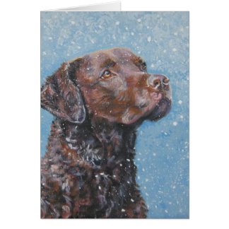 chesapeake bay retriever Christmas Card