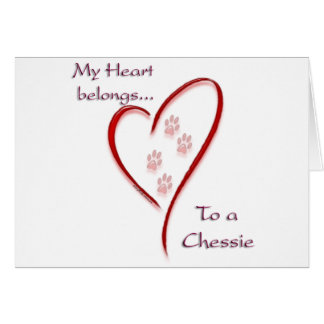 Chesapeake Bay Retriever Heart Belongs Card
