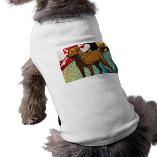 """Chesapeake Bay Retriever of Maryland, """"Chessie"""" Sleeveless Dog Shirt"""