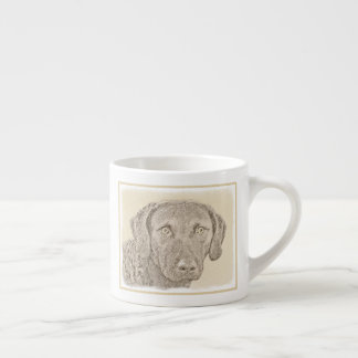 Chesapeake Bay Retriever Painting Original Dog Art Espresso Cup