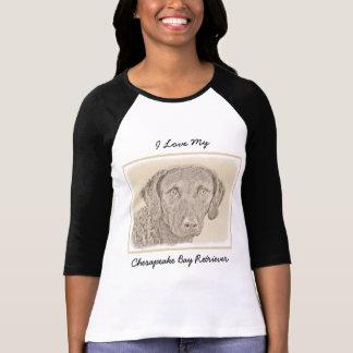 Chesapeake Bay Retriever Painting Original Dog Art T-Shirt