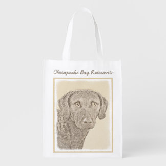 Chesapeake Bay Retriever Reusable Grocery Bag