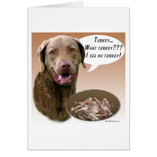 Chesapeake Bay Retriever Turkey Card