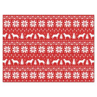Chesapeake Bay Retrievers Christmas Pattern Red Tissue Paper