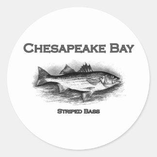 Chesapeake Bay Striped Bass Classic Round Sticker