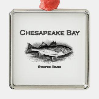 Chesapeake Bay Striped Bass Metal Ornament