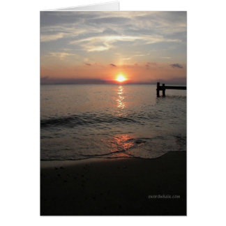 Chesapeake Bay sunset Card
