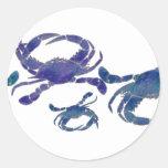 Chesapeake Blue Crabs Round Sticker