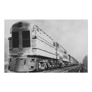 "Chesapeake & Ohio Railroad ""500"" Locomotive Poster"