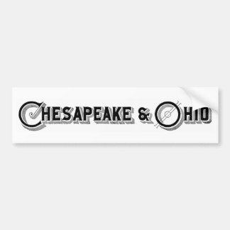 Chesapeake & Ohio Railroad Logo ca.1897 Bumper Sticker