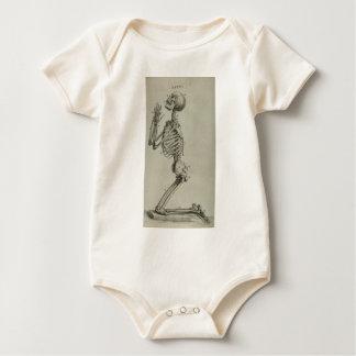 cheseldenprayingskeleton baby bodysuit