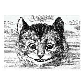 Cheshire Cat 13 Cm X 18 Cm Invitation Card