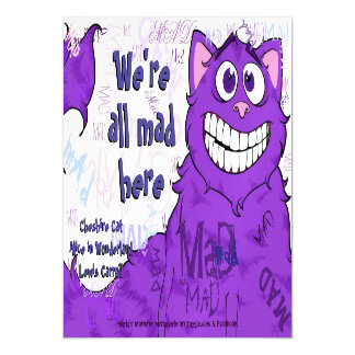 """Cheshire Cat, 5""""x7"""" Magnetic Card Magnetic Invitations"""