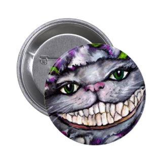 Cheshire Cat 6 Cm Round Badge