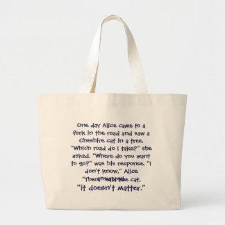 Cheshire Cat Advice Bag