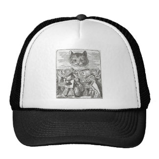 Cheshire Cat, Alice, and the King of Hearts Cap