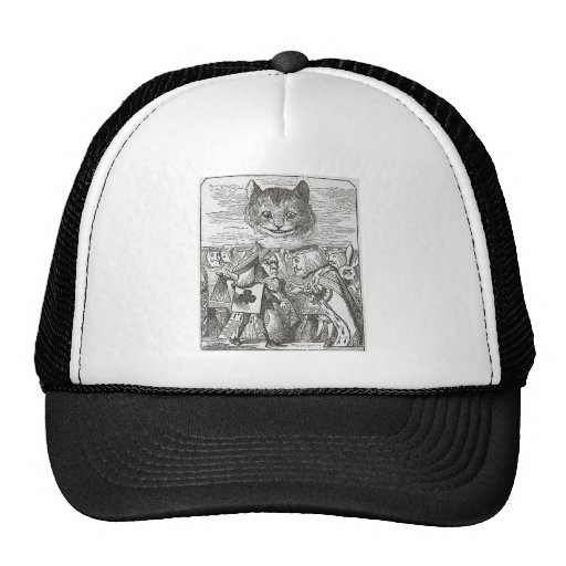 Cheshire Cat, Alice, and the King of Hearts Trucker Hat