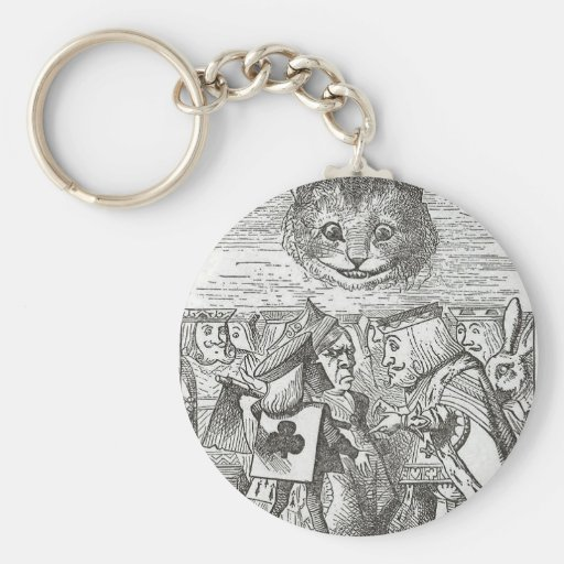 Cheshire Cat, Alice, and the King of Hearts Key Chain