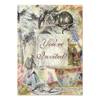 Cheshire Cat Alice in Wonderland 11 Cm X 16 Cm Invitation Card