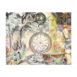 Cheshire Cat Alice in Wonderland Canvas Print