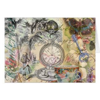 Cheshire Cat Alice in Wonderland Greeting Card