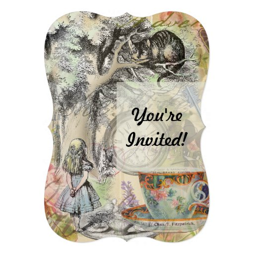 Cheshire Cat Alice in Wonderland Cards